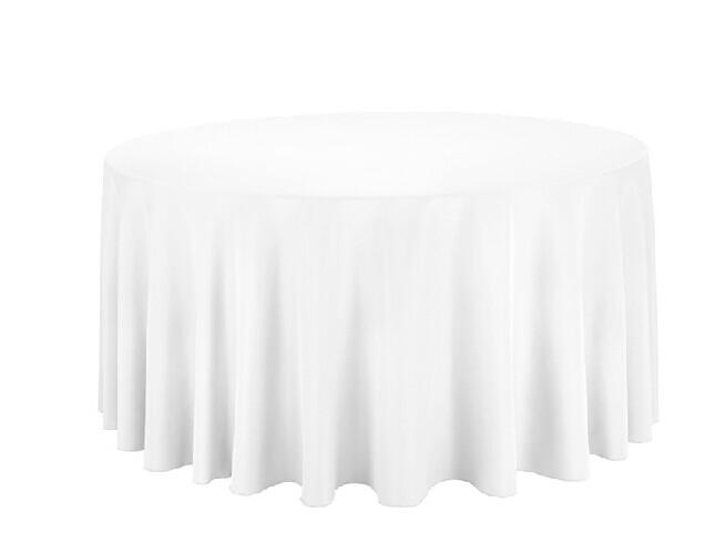 Polyester mini-tissu tissu de table de couleur blanc mat