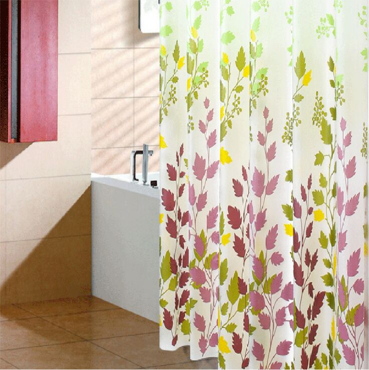 Polyester oxford printed shower curtain fabric