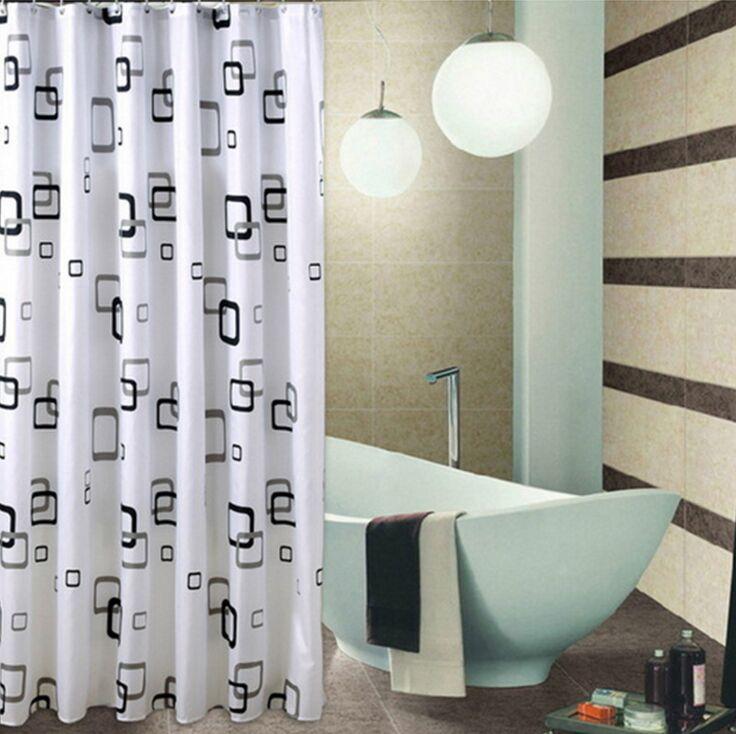Poliéster impresa tela de la cortina de ducha de microfibra