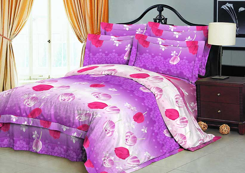 100% Polyester microfiber fabric brushed 70gsm 220cm Pigment Printed for bedding
